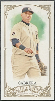 2012 Topps Allen and Ginter #363 Miguel Cabrera EXT Mini