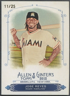 2012 Topps Allen and Ginter #RC40 Jose Reyes Rip Card (Card Has Been Ripped & Removed) #11/25