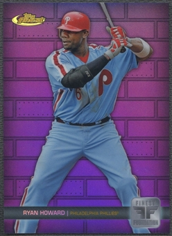 2011 Finest #FF4 Ryan Howard Finest Foundation Purple Refractor