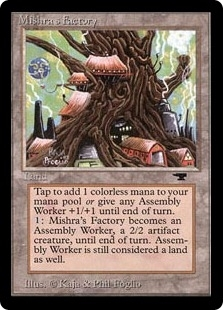 Magic the Gathering Antiquities Single Mishra's Factory (spring) - SLIGHT PLAY (SP)