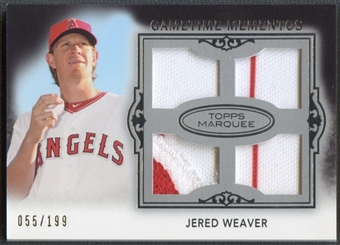 2011 Topps Marquee #GMQR50 Jered Weaver Gametime Mementos Quad Patch Jersey #055/199