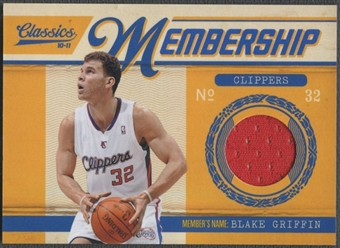 2010/11 Classics #11 Blake Griffin Membership Materials Jersey #134/499