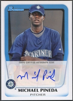 2011 Bowman Prospect #MP Michael Pineda Auto
