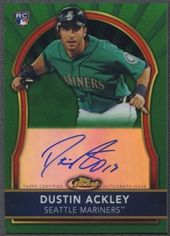2011 Finest #76 Dustin Ackley Rookie Green Refractor Auto #074/199