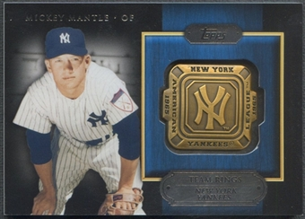 2012 Topps #MM Mickey Mantle Team Rings