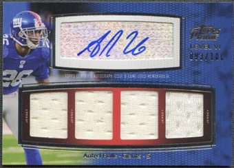 2011 Topps Prime #PVIAR Antrel Rolle Level 6 Jersey Auto #093/100