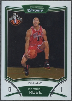 2008/09 Bowman Chrome #111 Derrick Rose Rookie
