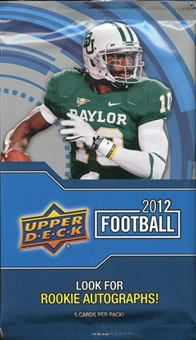 2012 Upper Deck Football Retail 24-Pack Lot
