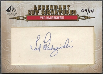 2011 SP Legendary Cuts #175 Ted Kluszewski Legendary Signatures Cut Auto #04/14
