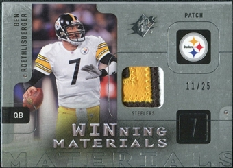 2009 Upper Deck SPx Winning Materials Patch Platinum #WRO Ben Roethlisberger /25