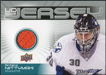 2010/11 Upper Deck Game Jerseys #GJAN Antero Niittymaki