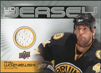 2010/11 Upper Deck Game Jerseys #GJAW Andy Wozniewski