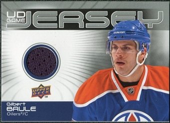2010/11 Upper Deck Game Jerseys #GJGB Gilbert Brule
