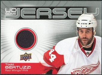 2010/11 Upper Deck Game Jerseys #GJTB Todd Bertuzzi