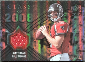 2008 Upper Deck Icons Class of 2008 Jersey Silver #CO4 Matt Ryan /199