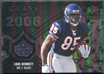 2008 Upper Deck Icons Class of 2008 Jersey Silver #CO11 Earl Bennett /199