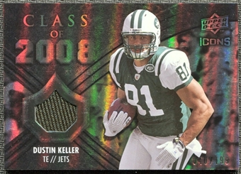 2008 Upper Deck Icons Class of 2008 Jersey Silver #CO17 Dustin Keller /199