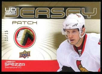 2010/11 Upper Deck Game Jerseys Patches #GJJS Jason Spezza 11/15