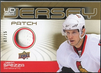 2010/11 Upper Deck Game Jerseys Patches #GJJS Jason Spezza 7/15