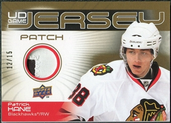 2010/11 Upper Deck Game Jerseys Patches #GJPK Patrick Kane 12/15