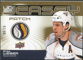 2010/11 Upper Deck Game Jerseys Patches #GJSW Shea Weber 8/15