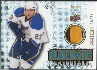 2010/11 Upper Deck Rookie Materials Patches #RMIC Ian Cole /25