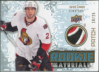 2010/11 Upper Deck Rookie Materials Patches #RMJC Jared Cowen /25