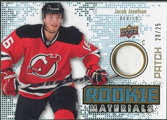 2010/11 Upper Deck Rookie Materials Patches #RMJJ Jacob Josefson /25