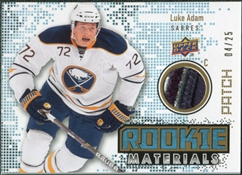 2010/11 Upper Deck Rookie Materials Patches #RMLA Luke Adam /25