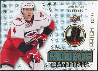 2010/11 Upper Deck Rookie Materials Patches #RMMC Jamie McBain /25