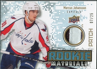2010/11 Upper Deck Rookie Materials Patches #RMMJ Marcus Johansson /25