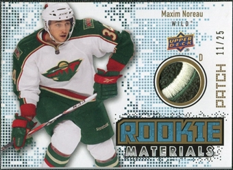 2010/11 Upper Deck Rookie Materials Patches #RMMN Maxim Noreau /25