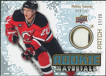 2010/11 Upper Deck Rookie Materials Patches #RMMT Mattias Tedenby /25