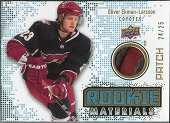 2010/11 Upper Deck Rookie Materials Patches #RMOE Oliver Ekman-Larsson /25