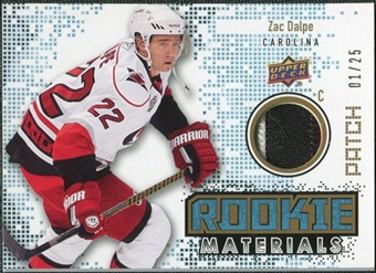 2010/11 Upper Deck Rookie Materials Patches #RMZD Zac Dalpe /25