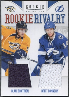 2011/12 Panini Rookie Anthology #59 Blake Geoffrion & Brett Connolly Rookie Rivalry Dual Jersey