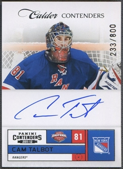 2011/12 Panini Contenders #234 Cam Talbot Rookie Auto #233/800