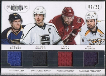 2011/12 Dominion #32 David Backes Dustin Brown Shane Doan Shea Weber Jersey #02/25