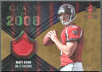 2008 Upper Deck Icons Class of 2008 Jersey Gold #CO4 Matt Ryan /75