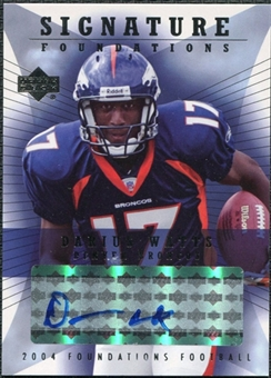 2004 Upper Deck Foundations Signature Foundations #SFDW Darius Watts Autograph