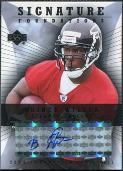 2004 Upper Deck Foundations Signature Foundations #SFQW Quincy Wilson Autograph
