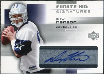 2004 Upper Deck Finite HG Signatures #FSDR Drew Henson SP Autograph