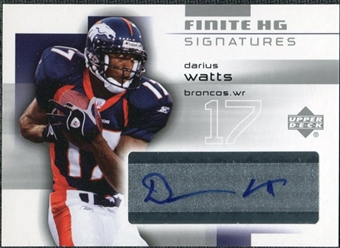 2004 Upper Deck Finite HG Signatures #FSDW Darius Watts Autograph