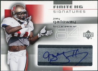 2004 Upper Deck Finite HG Signatures #FSJG Joey Galloway Autograph