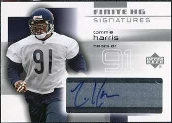 2004 Upper Deck Finite HG Signatures #FSTH Tommie Harris Autograph
