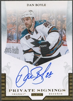 2011/12 Panini #DBY Dan Boyle Private Signings Auto
