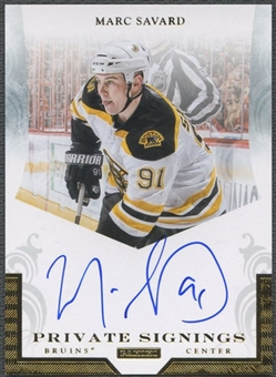2011/12 Panini #SAV Marc Savard Private Signings Auto