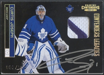 2011/12 Panini Contenders #160 Curtis Joseph Patch Auto #003/100