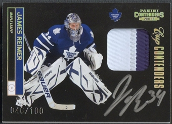 2011/12 Panini Contenders #141 James Reimer Patch Auto #046/100