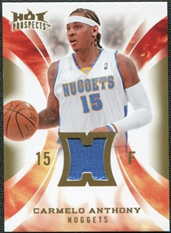 2008/09 Upper Deck Hot Prospects Hot Materials #HMCA Carmelo Anthony